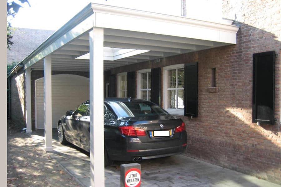 Houten Carport Met Lichtstraat