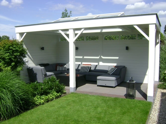 Tuinkamer-veranda-hout-lichtstraat